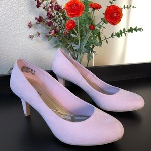 Classic Pink Suede Pumps